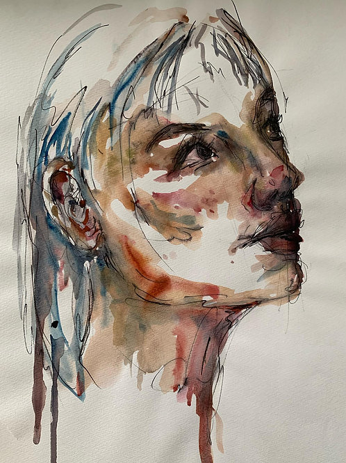 watercolour.of a young girl