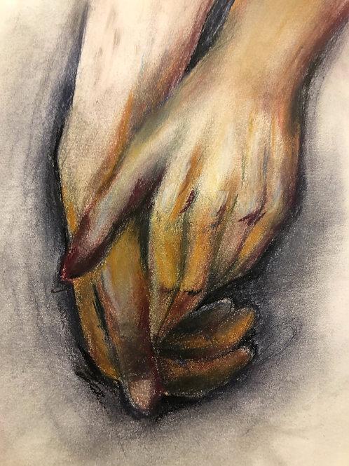 pastel hands