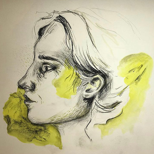 yellow sketch