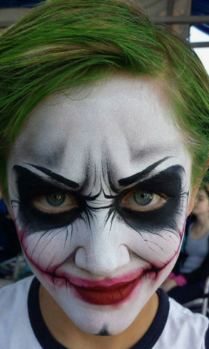 Mark Reid Joker face deisgn