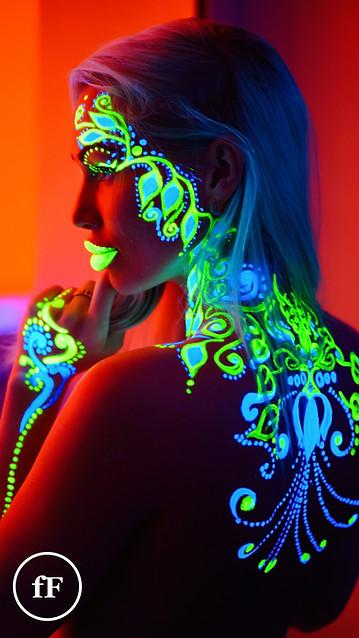 Neon girl tribal