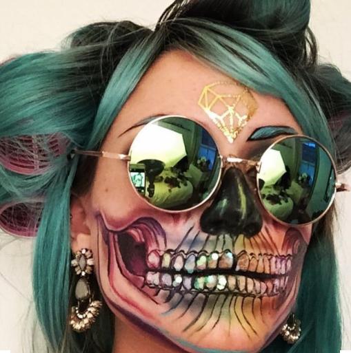 Cool Rainbow Skull