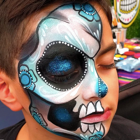 Day of the Dead half-face