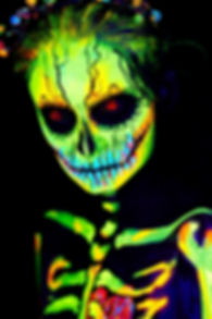 UV neon fluorescent dia de los muertos s