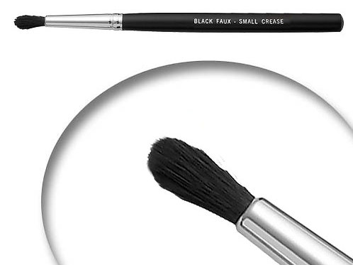 Black Faux Small Crease Brush