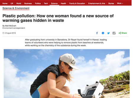In Hawaii with Sarah-Jeanne Royer: How one woman found a new source of warming gases hidden in waste