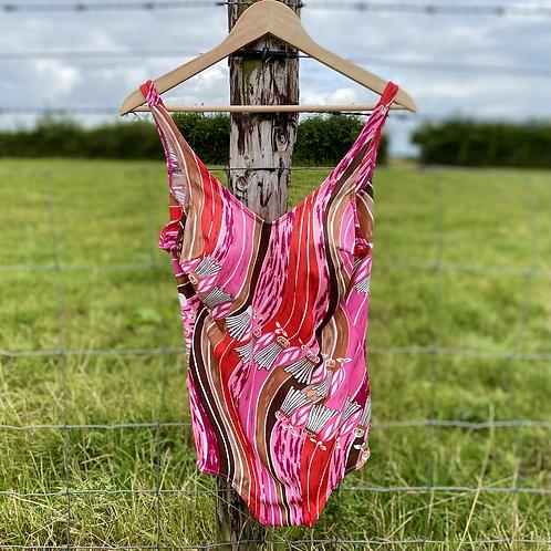 Pink Retro Vintage Swimsuit