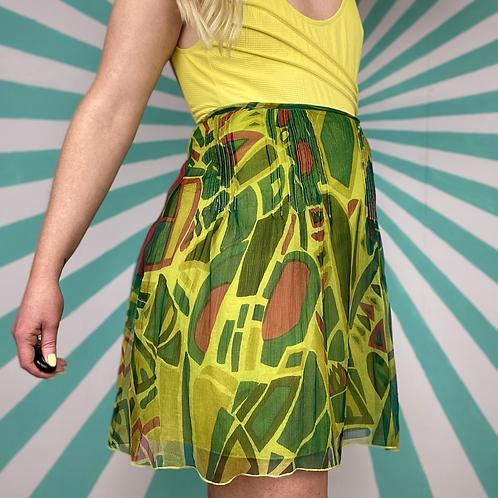 Green Sheer Mini Skirt