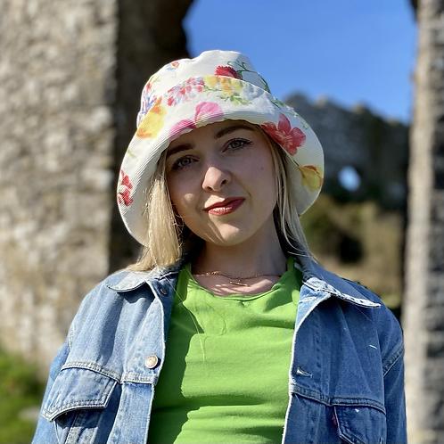 Vintage Floral Summer Hat