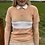 Thumbnail: Vintage Knitted Peach Polo