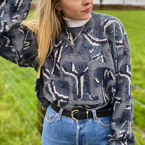 Italian Retro Knit Sweater