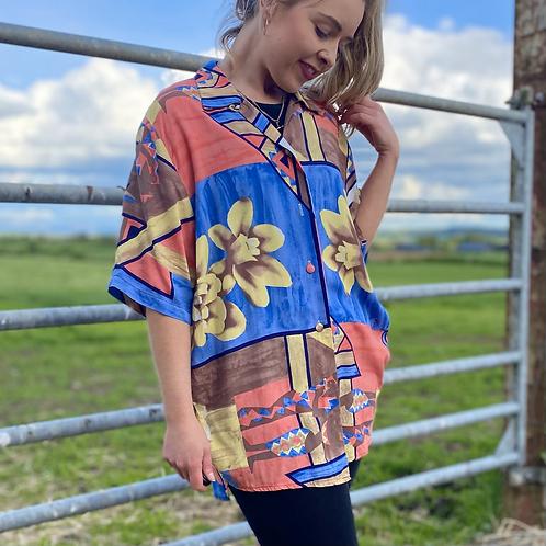 Vintage Pastel Hawaiian Shirt