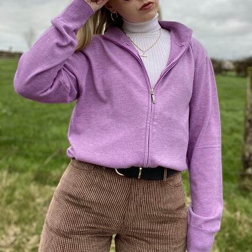 Zip-Up Wool/Cashmere Cardigan