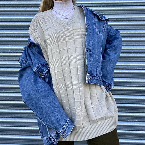 Vintage Cream Knit Vest