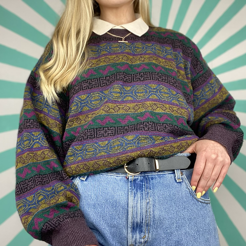 Purple Funky Knit Jumper