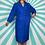 Thumbnail: Blue Midi Vintage Dress