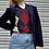 Thumbnail: Vintage Corduroy Navy Blazer