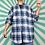 Thumbnail: Blue Cheque Cotton Shirt
