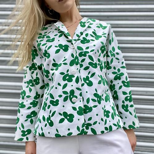Green Floral Summer Blazer