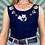 Thumbnail: Navy Embroidered Bodysuit