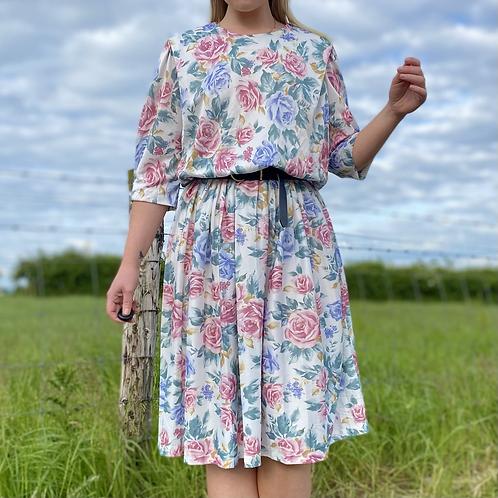Pastel Floral Vintage Dress