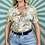 Thumbnail: Cream Floral Cropped Blouse