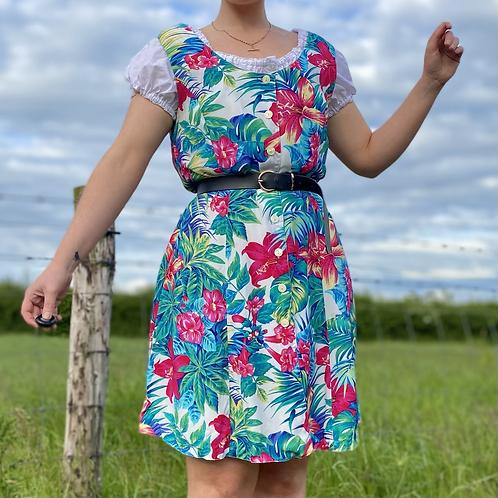 Hawaiian Floral Sun Dress