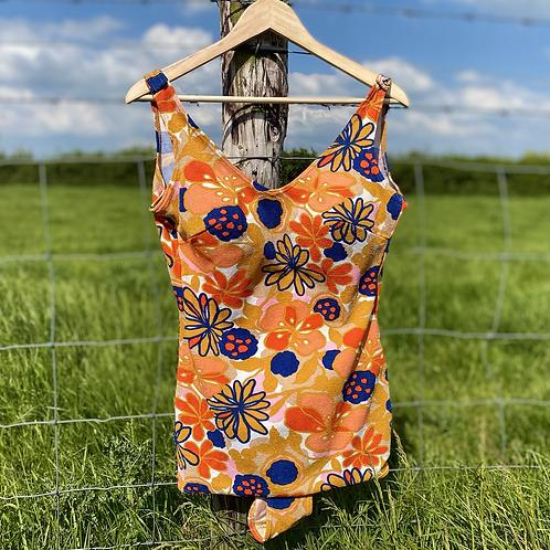 Orange Floral Swimsuit