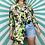 Thumbnail: 100% Silk Floral Blouse