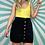 Thumbnail: Black Corduroy Mini Skirt