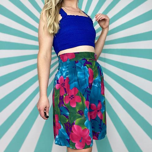 Blue Hawaiian Culotte Shorts