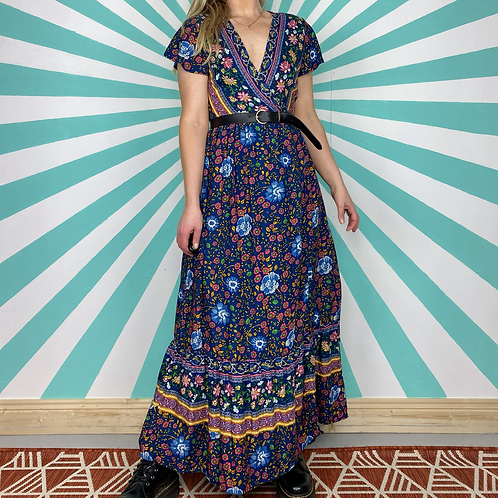Bohemian Navy Maxi Dress