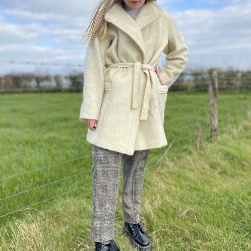 Cream Mohair Vintage Coat