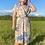Thumbnail: Beige Floral Wrap Dress