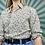 Thumbnail: Vintage Cream Floral Blouse