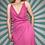 Thumbnail: Vintage Pink Wrap Dress