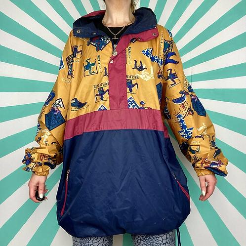 Navy Funky Rain Jacket
