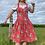 Thumbnail: Pink Floral Vintage Dress