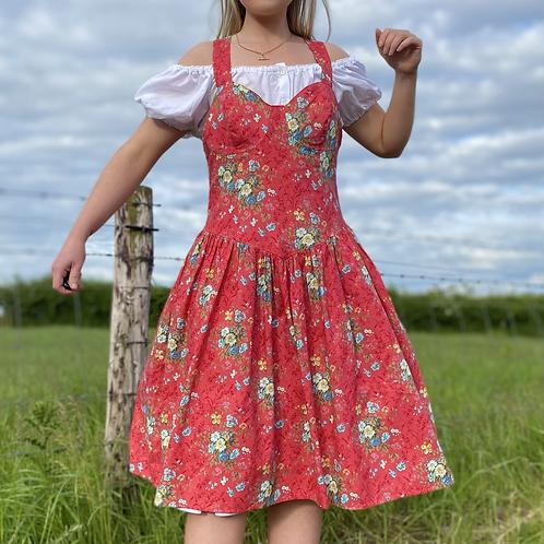 Pink Floral Vintage Dress