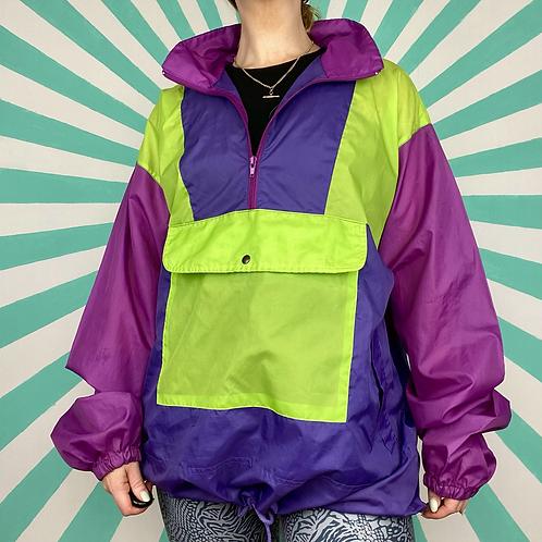 Purple Vintage Rain Jacket