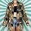 Thumbnail: Brown Retro Vintage Blouse