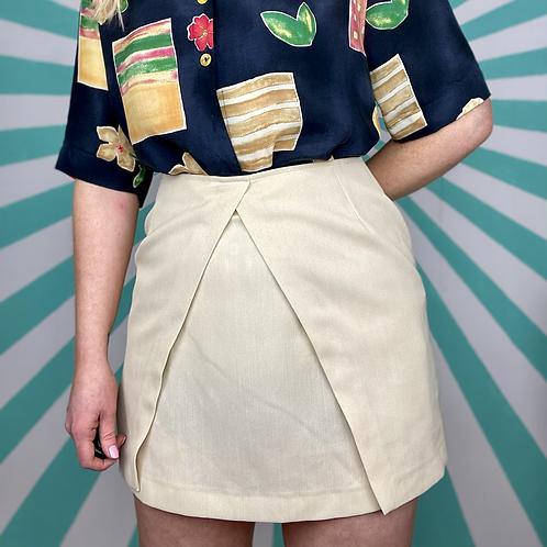 Vintage Cream Mini Skirt