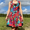 Thumbnail: Red Floral Lace-Up Dress