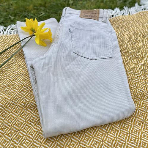 Levi's White Corduroy Jeans