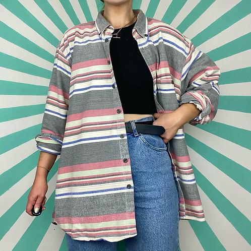 Pink Striped Cotton Shirt