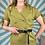Thumbnail: Olive Green Linen Dress