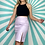 Thumbnail: Lilac Faux Leather Skirt