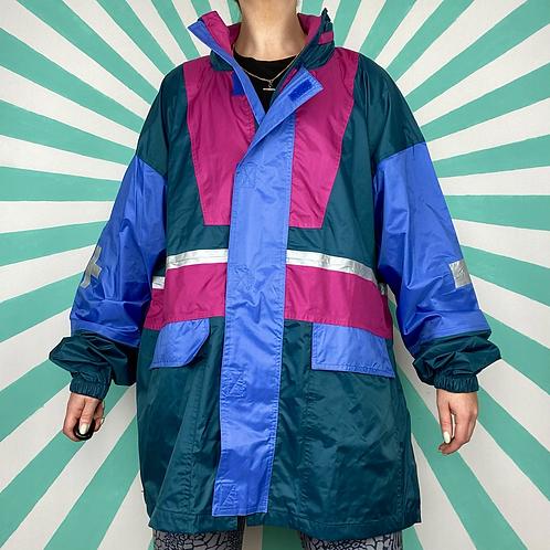 Navy Vintage Rain Jacket