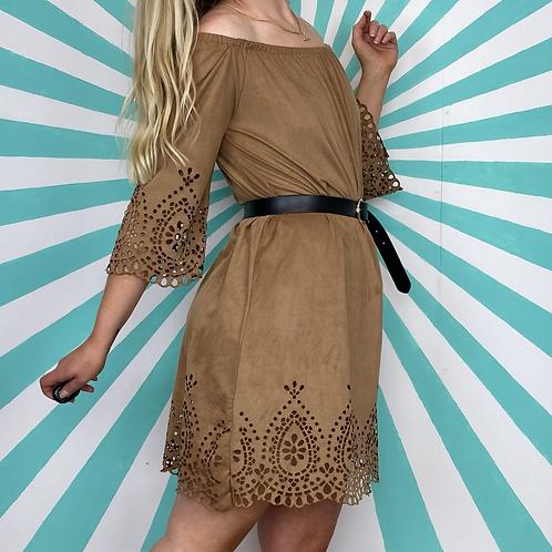 Vintage Suede Mini Dress