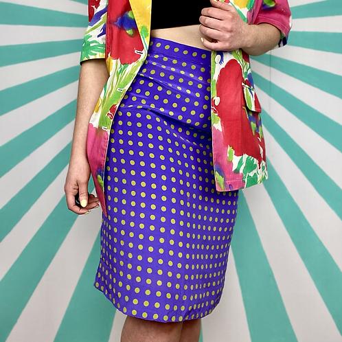 Purple Polka Dot Skirt